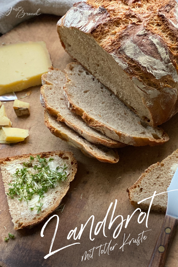 Pinterest Pin zum Landbrot